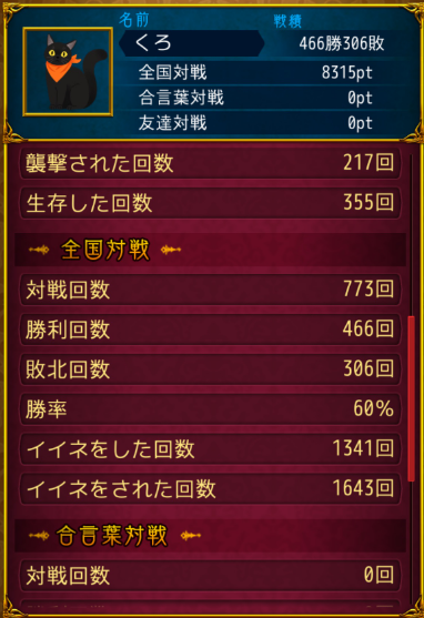 人狼J戦績2
